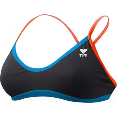 Solid Brites Crosscutfit Bikini Top
